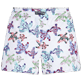 Women Others Embroidered - Women embroidered Swim Short Watercolor Turtles, White back