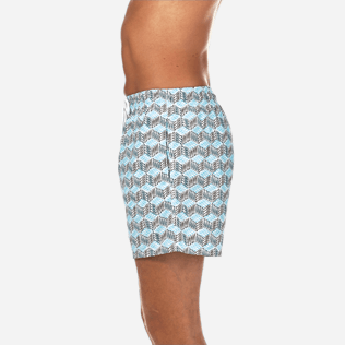 Men Classic Printed - Fishes Cube Swim shorts, Azure supp3