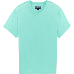Men Others Solid - Men Mercerized Cotton T-Shirt V-neck Solid, Mint front