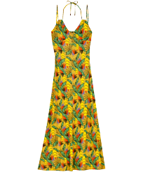 Women Others Printed - Women Long Dress Go Bananas, Curry front