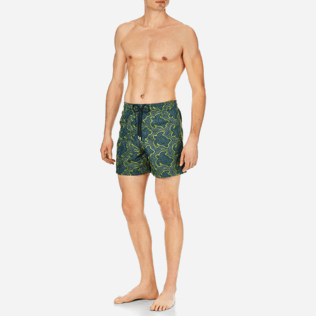 Men Embroidered Embroidered - Men Swimtrunks Embroidered Hypnotic Turtles - Limited Edition, Spray frontworn