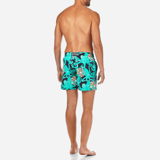 Men Classic / Moorea Printed - Octopussy et Coquillages Swim shorts, Navy backworn