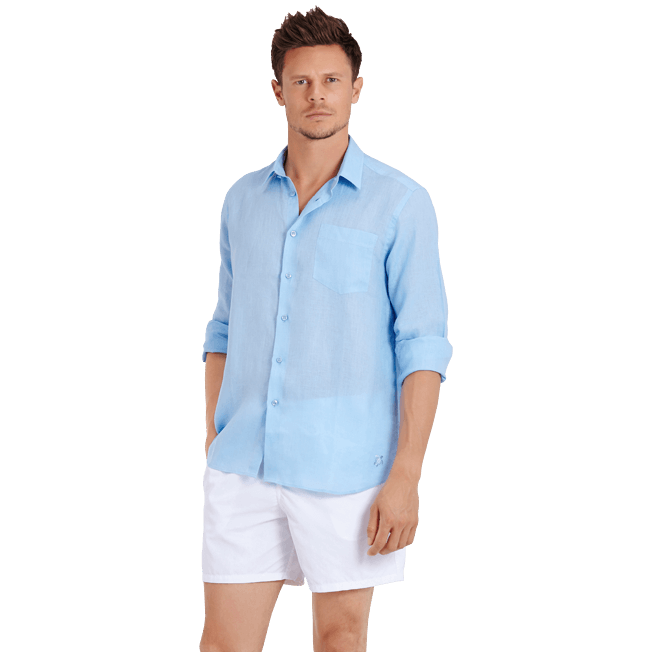 Vilebrequin - Men Linen Shirt Solid - 7