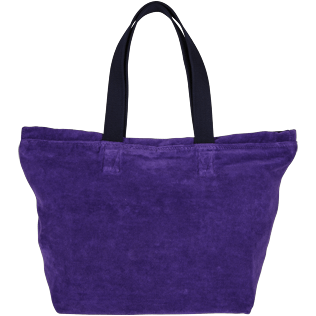 Men Bags Solid - Large Terry Cloth Beach bag Solid Jacquard, Amethyst back