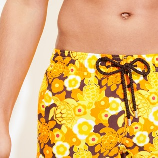 Men Long classic Printed - Men Swimwear Long 1976 Sun Turtles, Lemon supp1