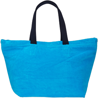 Others Solid - Unisex Large Beach Bag Solid, Hawaii blue back