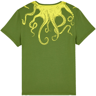 Men Others Printed - Men Cotton T-Shirt Octopussy, Sycamore back