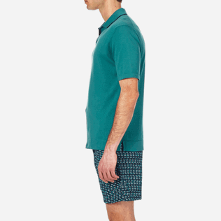 Men Polos Solid - Short sleeve polo sweater, Peacock blue supp3