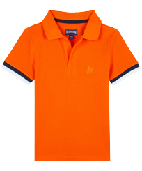 Boys Others Solid - Boys Cotton Pique Polo Shirt Solid, Apricot front