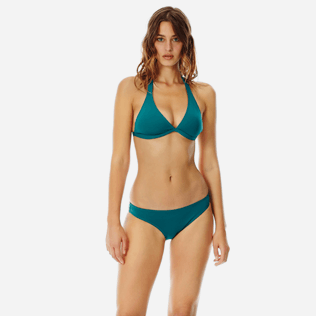Women Classic brief Solid - Women midi brief bikini Bottom Solid, Pine wood frontworn