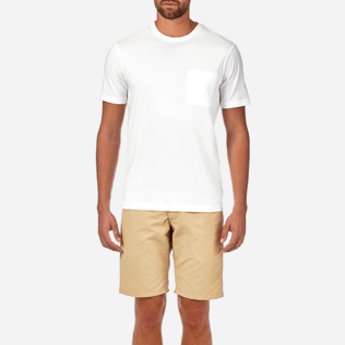 Men Others Solid - Men Pima Cotton Jersey T-shirt Solid, White supp1