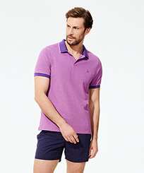 Men Others Solid - Men Changing Cotton Pique Polo Shirt Solid, Bengal frontworn