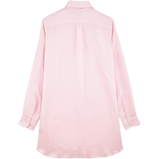 Women Others Solid - Women Long Linen Shirt Solid, Peony back