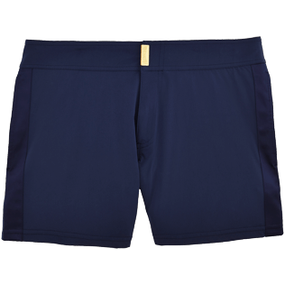 Men Short Solid - Smoking Tuxedo fitted Swim shorts, Navy front
