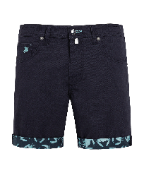 Men Others Solid - Men 5 Pockets Bermuda Crabs, Navy front
