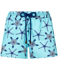 Women Others Printed - Women Swim Short in light fabric Starfish Dance, Lazulii blue front