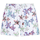 Women Others Embroidered - Women embroidered Swim Short Watercolor Turtles, White front