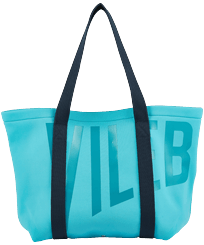 Others Printed - Large Beach Bag Vilebrequin, Azure front