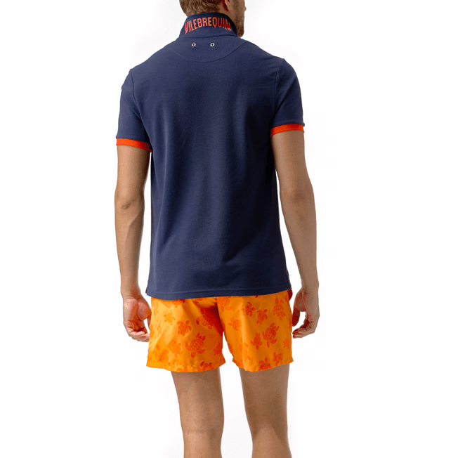 Vilebrequin - Polo en Piqué de Coton Homme Uni - 4