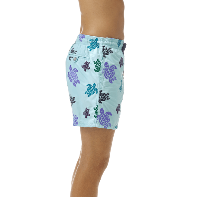 Vilebrequin - Maillot de bain Mistral Broderie Tortues Multicolores All Over - 5