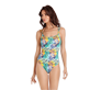 Women One piece Printed - Women Round neckline One piece Swimsuit Jungle, Midnight blue frontworn