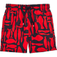 Men Classic Printed - Silex Fishes Swim shorts, Poppy red front