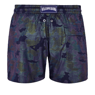 Men Stretch classic Printed - Men Swim Trunks Stretch Prince de Galles, Navy back