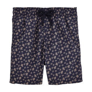 Boys Others Printed - Micro Ronde des Tortues Swim Shorts, Navy front