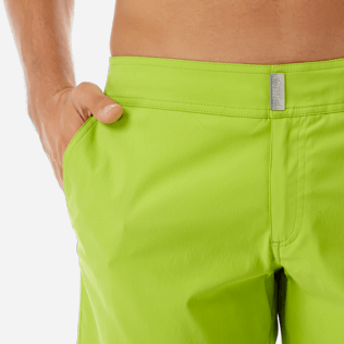 Men Flat belts Solid - Men Flat Belt Stretch swimtrunks Solid, Cactus supp1
