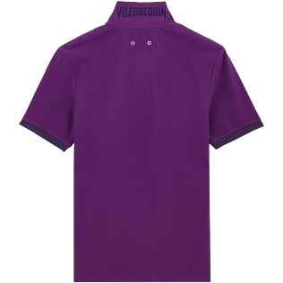 Men Others Solid - Men Cotton Polo Shirt Solid, Plum back