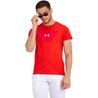 Uomo Altri Stampato - Men Cotton T-Shirt Crabs, Medicis red supp3