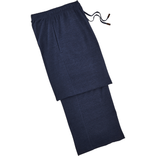 Women Pants Solid - Solid Linen Jersey Pants, Navy front