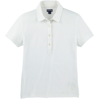 Women Polos Solid - Solid Terry Polo, White front