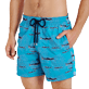 Men Classic Embroidered - Men Swim Trunks Coral & Fish - Limited Edition, Curacao supp1