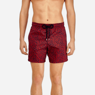 Men Ultra-light classique Printed - Men Lightweight and Packable Swimtrunks Mini Fish, Navy supp1