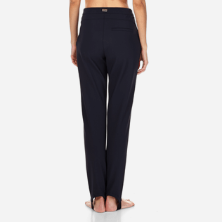 Women Pants Solid - Spindle pants, Navy supp1