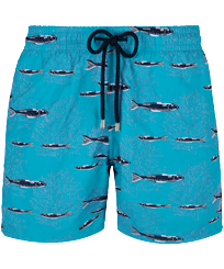 Men Classic Embroidered - Men Swim Trunks Coral & Fish - Limited Edition, Curacao front