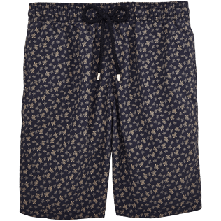 Men Long Printed - Micro Ronde des Tortues Long Cut Swim shorts, Navy front