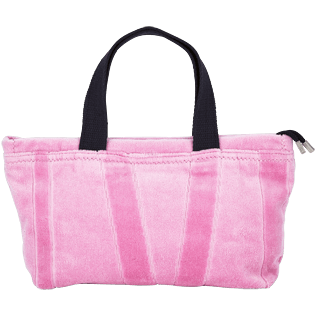 Bags Solid - Beach Pouch in Terry Cloth Solid Jacquard, Pink front