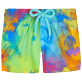 Autros Estampado - Baby Swimwear Holi Party, Batik azul front