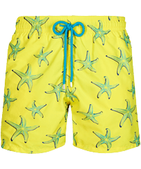 Men Classic Embroidered - Men Swim Trunks Embroidered 1997 Starlettes - Limited Edition, Lemon front
