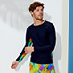 Men Others Printed - Men Rashguard Holi Party, Navy frontworn