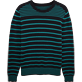 Men Sweaters Graphic - Cotton crew neck sweater, Navy / turquoise front