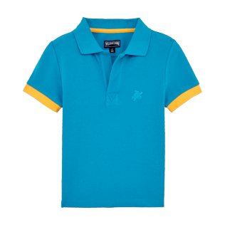 Boys Others Solid - Boys Cotton Pique Polo Shirt Solid, Seychelles front