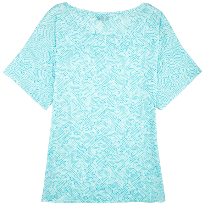 Vilebrequin - Robe T-shirt Oversize en Jersey Tencel Femme Tortues Hypnotiques - 2