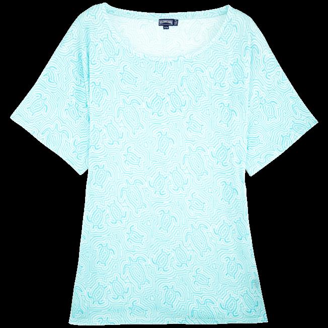 Vilebrequin - Robe T-shirt Oversize en Jersey Tencel Femme Tortues Hypnotiques - 1