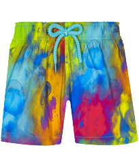Filles AUTRES Imprimé - Shorty de bain fille Stretch Holi Party, Bleu batik front