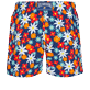 Men Stretch classic Printed - Men Stretch Short Swim Trunks 1977 Spring Flowers , Navy back