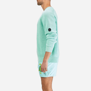 Men Others Solid - Men Cotton Linen Pullover Solid, Lagoon supp5