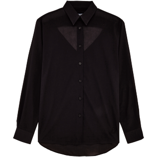 Women Shirts Solid - Women Halter Cotton Voile Shirt Solid, Black front